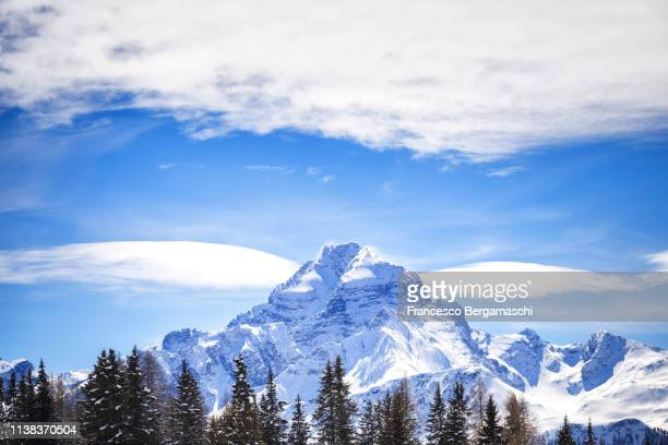 Clouds surround Piz Ela. Landwasser Valley, Albula Valley, District of Prattigau/Davos, Canton of Graubünden, Switzerland, Europe.