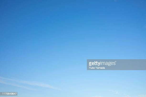clouds typologies - morning - blue stock pictures, royalty-free photos & images