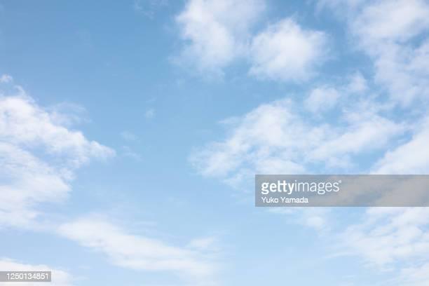 clouds  typologies - morning - blue ストックフォトと画像