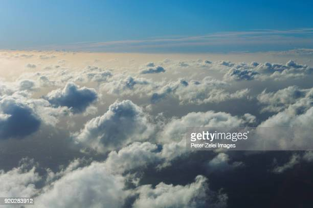 Clouds, view from an airplane