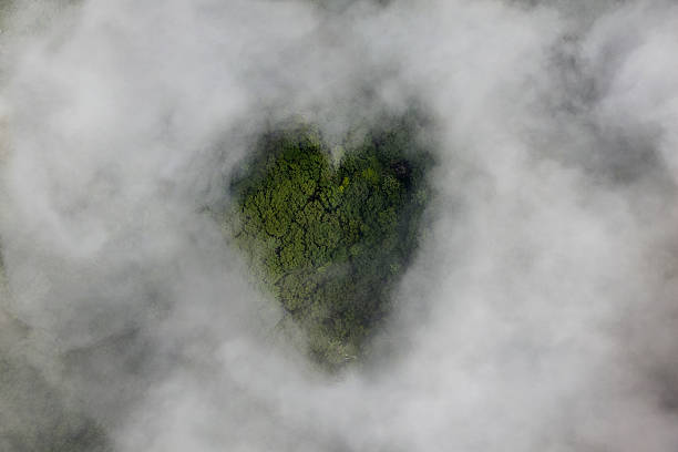 Clouds With Heart-shaped Opening Wall Art