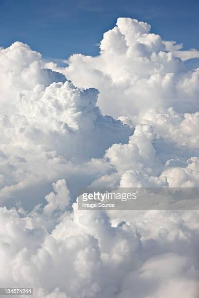 cloudscape against blue sky - cumulus stock pictures, royalty-free photos & images
