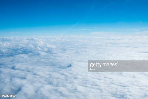 cloudscape against blue sky - 天国 ストックフォトと画像