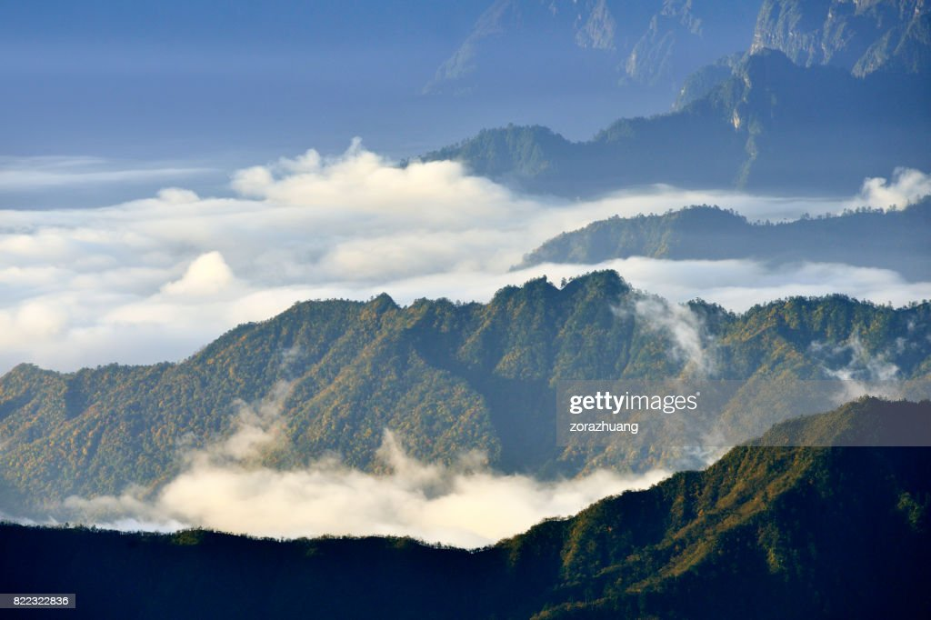 Cloudscape and Mountain at Morning : Stock Photo