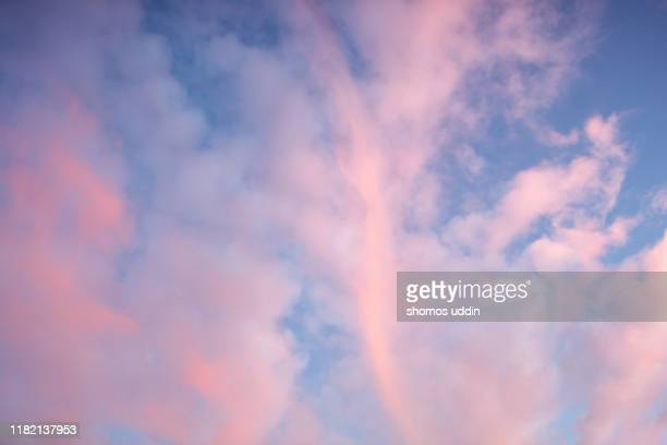 cloudscape at sunset - cloudscape stock pictures, royalty-free photos & images