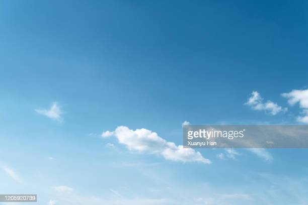 cloudscape background - blue stock pictures, royalty-free photos & images