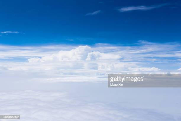 Cloudscape in stratosphere