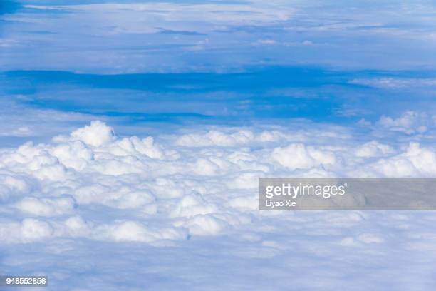 cloudscape in stratosphere - liyao xie stock pictures, royalty-free photos & images