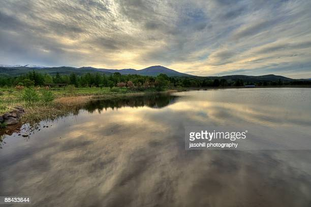 Cloudscape reflecting in lake