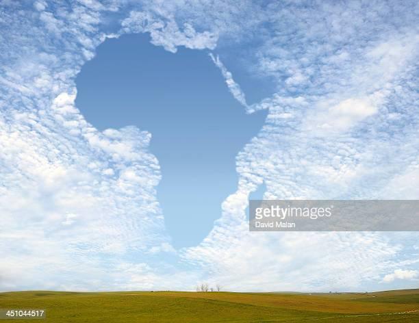 Cloudscape resembling Africa
