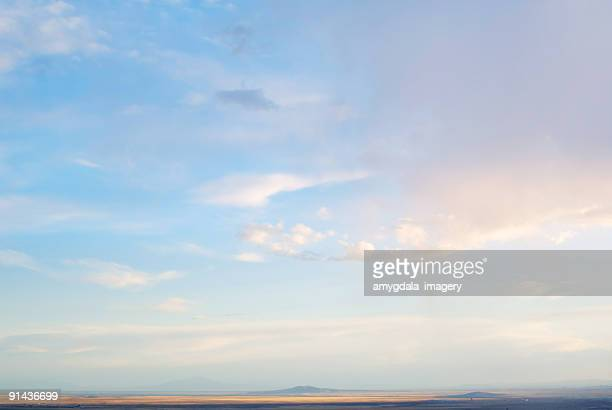 cloudscape sky sunset abstract mountain landscape - sky stock pictures, royalty-free photos & images