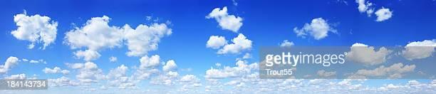 Cloudscape - White clouds in the blue sky