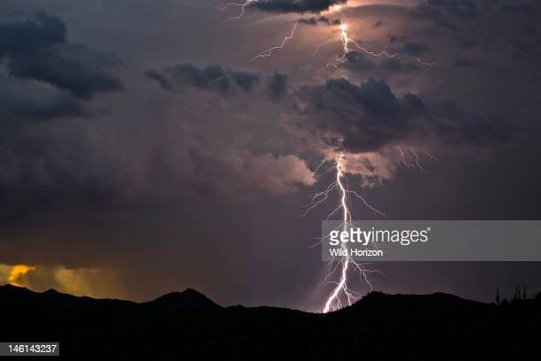 Cloudtoground lightning strike in the Tucson Mountains Tucson Arizona USA Digital