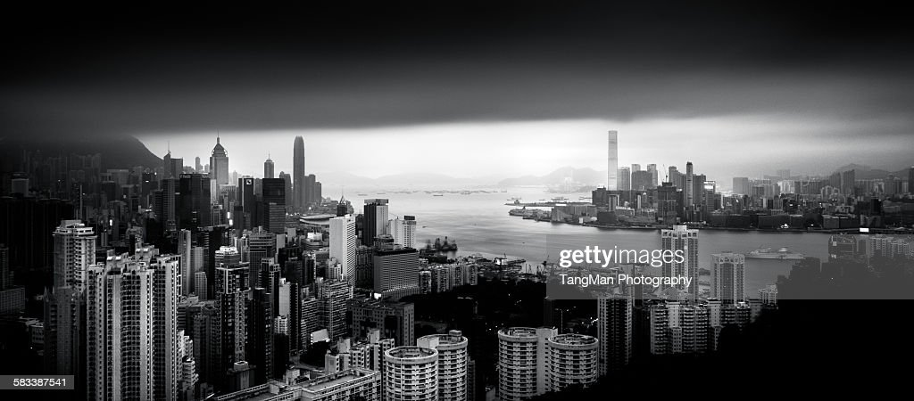 A cloudy day in Hong Kong : Stock Photo