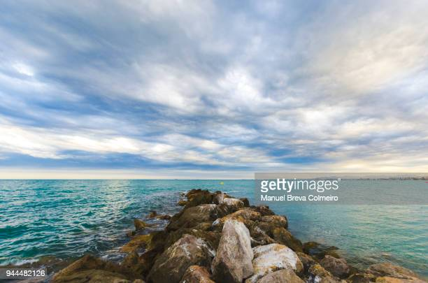 cloudy day - castellon de la plana stock photos and pictures