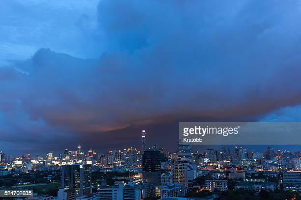 Cloudy evening at downtown Bangkok