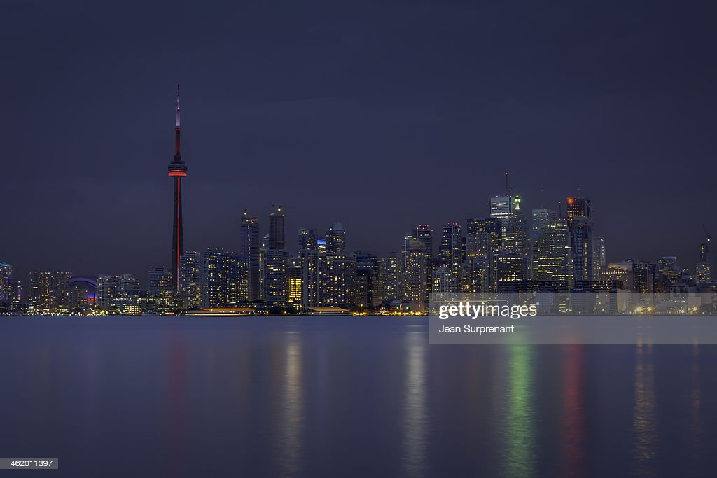Cloudy evening over Toronto : Stock Photo