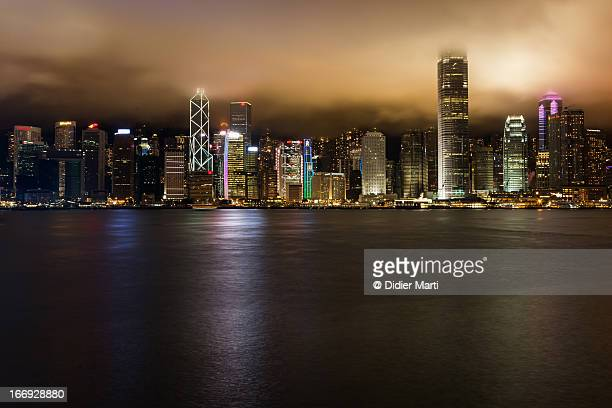 cloudy hong kong - didier marti stock photos and pictures