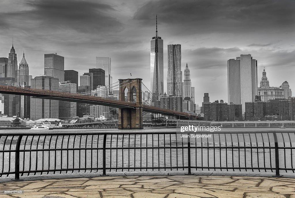 Cloudy Manhattan : Stock Photo