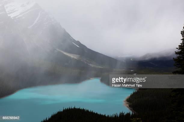 Cloudy Peyto Lake
