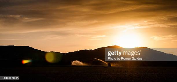 cloudy provence sunset - alpes de haute provence stock photos and pictures