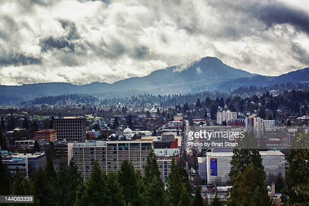 cloudy skies - eugene oregon stock pictures, royalty-free photos & images