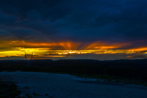 Cloudy sky at dramatic sunset, Assas, Canton of Saint-Gely-du-Fesc, France