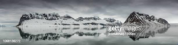 Cloudy sky over glacier