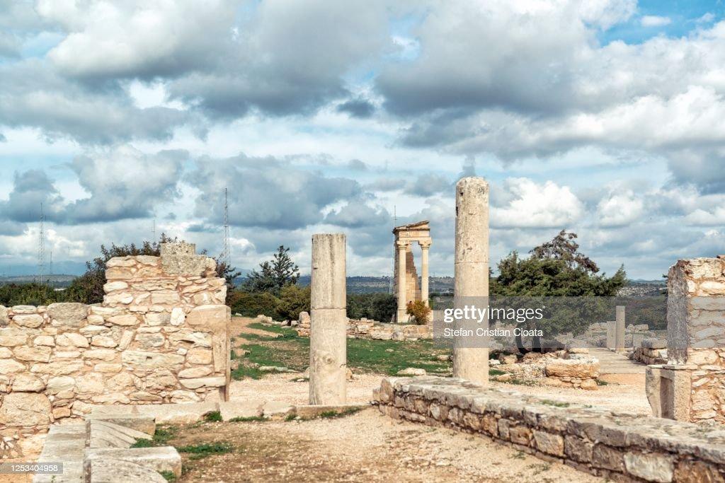 Cloudy sky over Kourion Cyprus, Europe : ストックフォト
