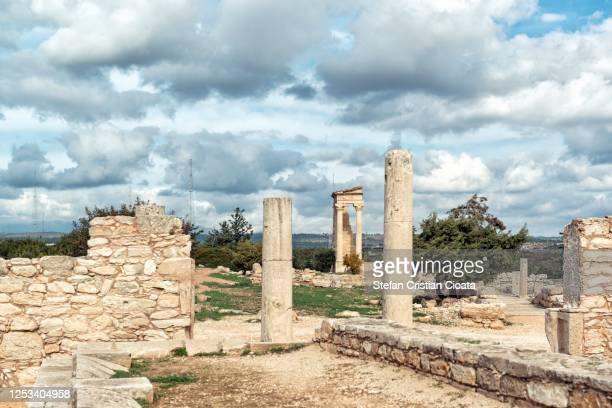 cloudy sky over kourion cyprus, europe - パフォス ストックフォトと画像