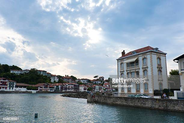 "cloudy sky over saint-jean-de-luz, pays basque - ""martine doucet"" or martinedoucet stock pictures, royalty-free photos & images"