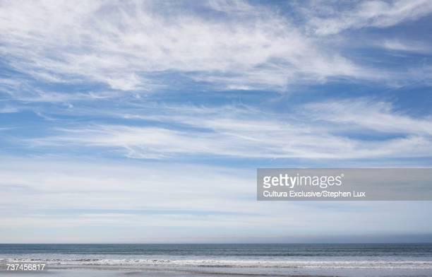 Cloudy sky over shoreline