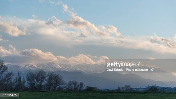 A cloudy sky over the Cadí mountain range