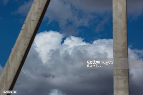 cloudy sky. - focus on foreground stock pictures, royalty-free photos & images