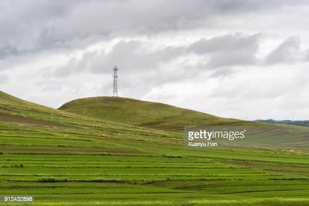 cloudy sky , transmission tower - hebei province stock pictures, royalty-free photos & images