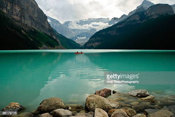 Cloudy summer day at Lake Louise