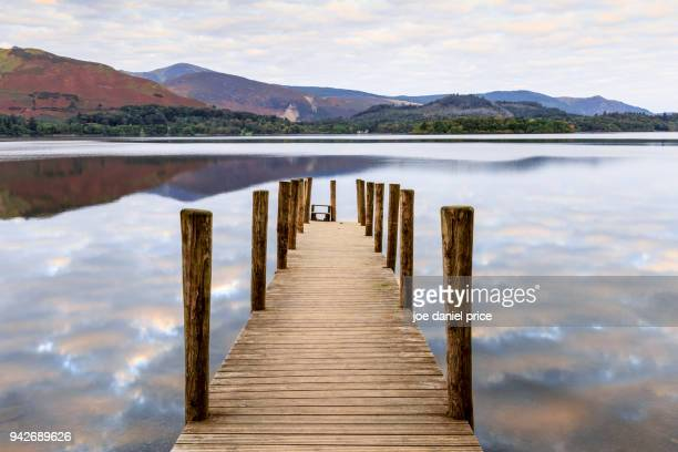 Cloudy Sunrise, Ashness Jetty, Derwent Water, Lake District, Cumbria, England
