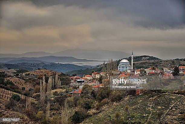 cloudy view of efemcukuru village - emreturanphoto stock pictures, royalty-free photos & images
