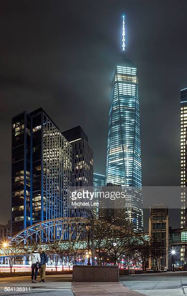 Cloudy World Trade Center Night View