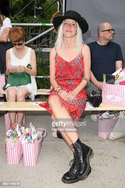 Cloudy Zakrocki attends the Marina Hoermanseder show during the Berlin Fashion Week Spring/Summer 2019 at ewerk on July 5 2018 in Berlin Germany