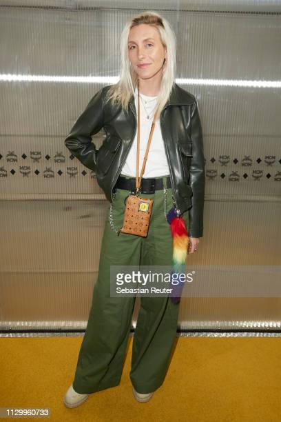 Cloudy Zakrocki attends the MCM Experience Store Opening on February 15, 2019 in Berlin, Germany.
