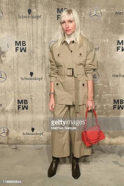 Cloudy Zakrocki attends the Nobi Talai show during Berlin Fashion Week Autumn/Winter 2020 at Kraftwerk Mitte on January 15, 2020 in Berlin, Germany.