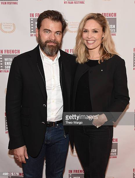 Clouis Cornillac and Lilou Fogli attend the 2015 In French With English Subtitles NY Film Festival Opening NightGould Hall on November 20 2015 in New...