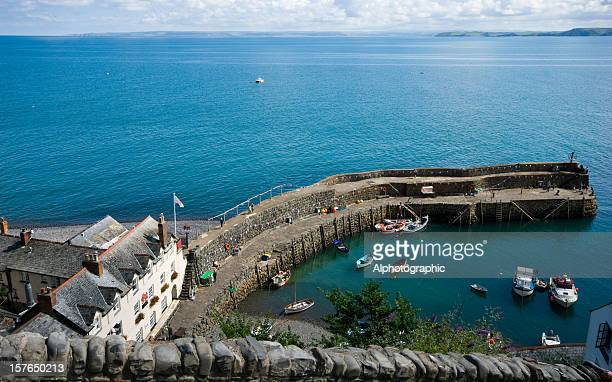 Clovelly harbour from above