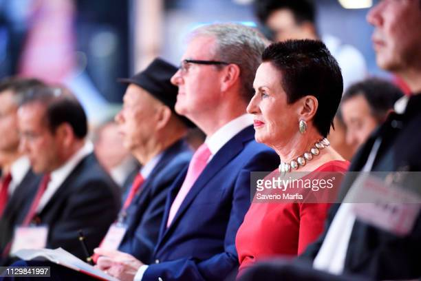 Clover Moore and Michael Daley during the official opening of the Sydney Chinese New Year Lantern Festival on February 15 2019 in Sydney Australia...
