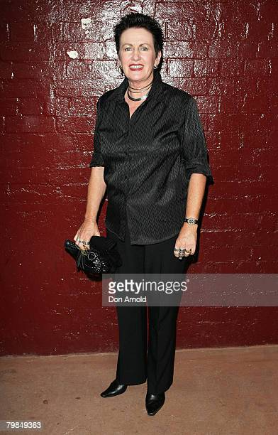 "Clover Moore arrives for the opening night of Kate Mulvany's ""The Seed"" at the Belvoir Street Theatre on February 20, 2008 in Sydney, Australia."
