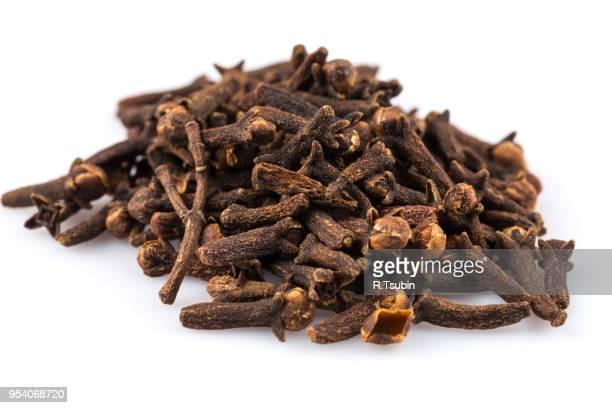 cloves spice isolated on a white background - gewürznelke stock-fotos und bilder