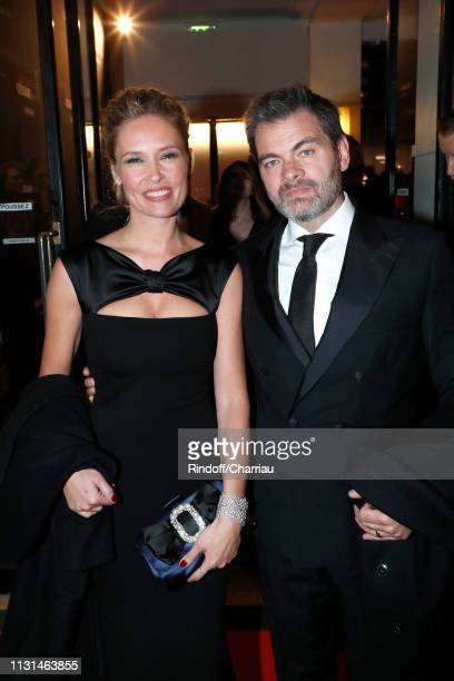 Clovis Cornillac and his wife Lilou Fogli attend the Cesar Film Awards 2019 at Salle Pleyel on February 22 2019 in Paris France