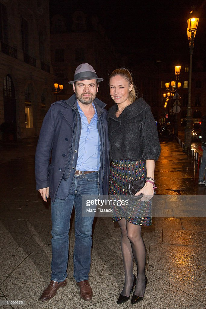 Clovis Cornillac and Lilou Fogli arrive at the Alexis Mabille show as part of Paris Fashion Week Haute-Couture Spring/Summer 2014 on January 20, 2014 in Paris, France.