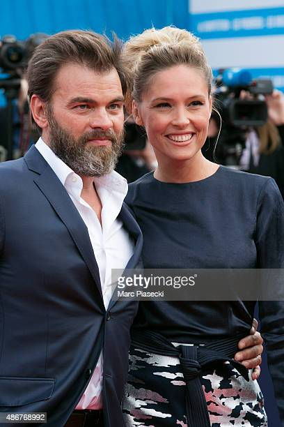 Clovis Cornillac and Lilou Fogli attend the 41st Deauville American Film Festival Opening Ceremony on September 4 2015 in Deauville France